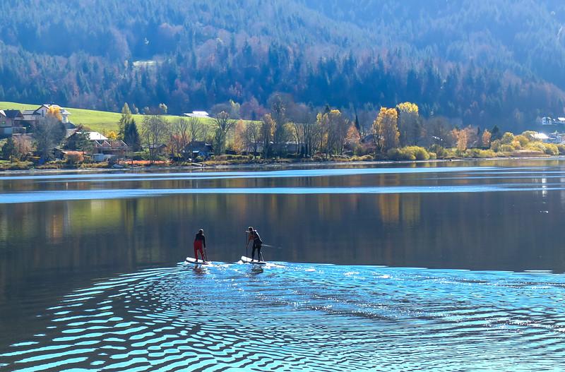 Lac de Joux, vue automnale