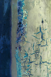 Cracked Paint in Blues