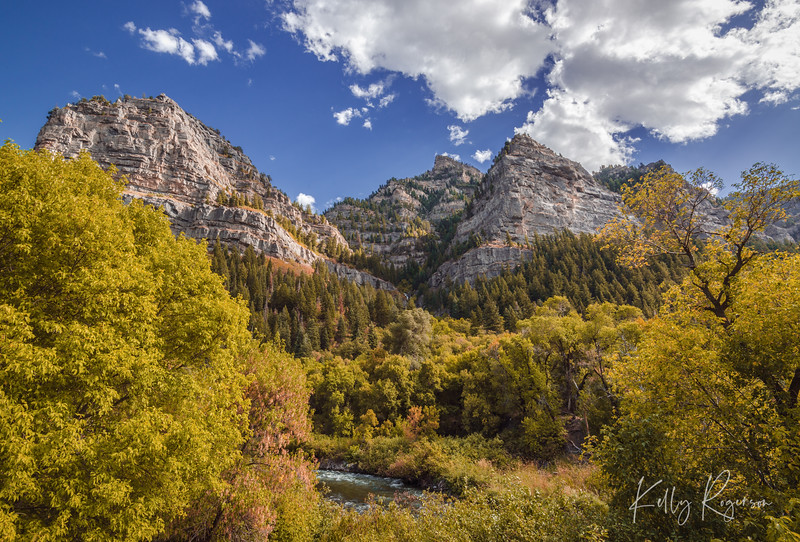 Every which way you turn or look, there's a gorgeous view up Provo Canyon, Utah. The steep granite cliffs tower over you as the river flows below. Nature at it's best right here in Utah.
