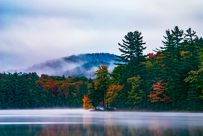 Morning Fog at Moss Lake near Old Forge