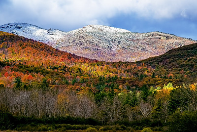 Snowcapped Autumn Mountains