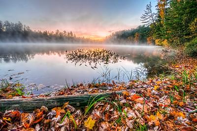 Autumn Sunrise on Minerva Lake