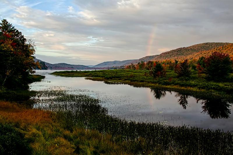 Rainbow over Lewey Lake