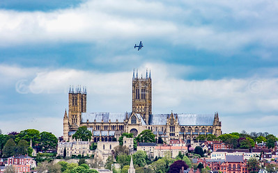 Lancaster over Lincoln Cathedral