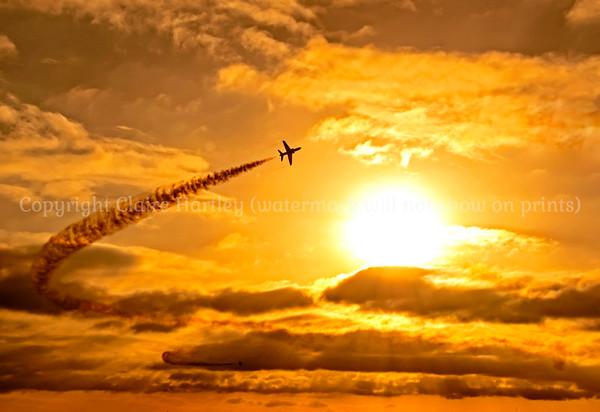 Red Arrow sunset