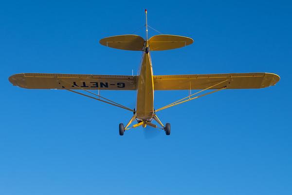 In trail with a Piper PA-18 Super Cub