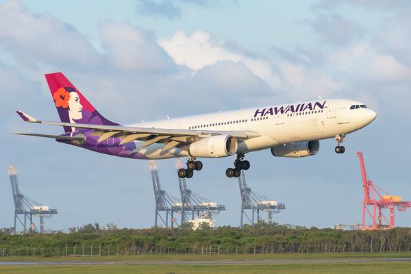 MMPI_20200229_MMPI0063_0062 - Hawaiian Airlines Airbus A330-243 N392HA as flight HA443 on approach to Brisbane Airport (YBBN) ex Honolulu (PHNL).