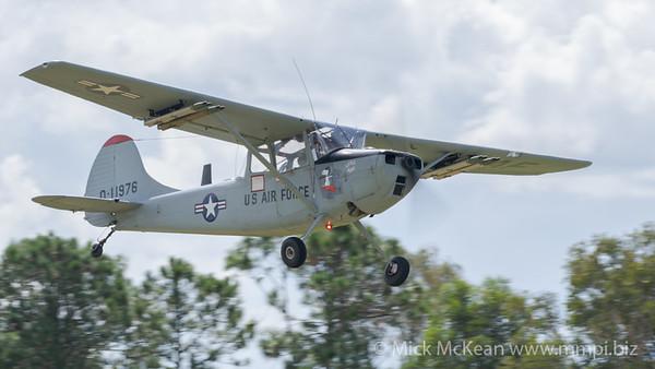 "MMPI_20180421_MMPI0048_0182 - Cessna O-1G Bird Dog VH-XVB ""Little Puff"" taking off at TAVAS GWFD 2018."
