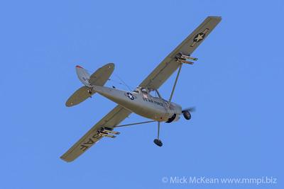 """MMPI_20180421_MMPI0048_0188 - Cessna O-1G Bird Dog VH-XVB """"Little Puff"""" in flight at TAVAS GWFD 2018."""