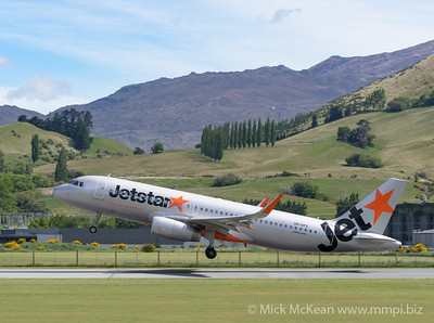 MMPI_20191121_MMPI0060_0013 - Jetstar Airways Airbus A320-232 VH-VFX as flight JQ278 takes off from Queenstown (NZQN) en route to Wellington (NZWN).