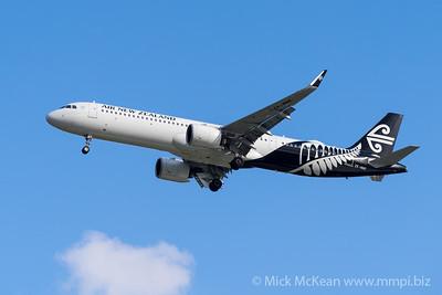 MMPI_20200126_MMPI0063_0004 - Air New Zealand Airbus A321-271NX ZK-NNE as flight NZ805 on approach to Brisbane (YBBN) ex Christchurch (NZCH).
