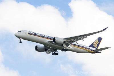 MMPI_20200126_MMPI0063_0002 - Singapore Airlines Airbus A350-941 9V-SHK as flight SQ265 on approach to Brisbane (YBBN) ex Singapore (WSSS).