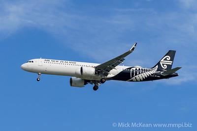 MMPI_20200127_MMPI0063_0002 - Air New Zealand Airbus A321-271NX ZK-NNC as flight NZ805 on approach to Brisbane (YBBN) ex Christchurch (NZCH).