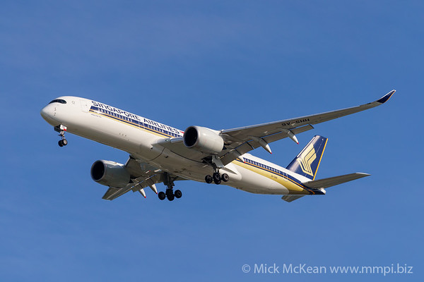 MMPI_20200127_MMPI0063_0012 - Singapore Airlines Airbus A350-941 9V-SHH as flight SQ265 on approach to Brisbane (YBBN) ex Singapore (WSSS).
