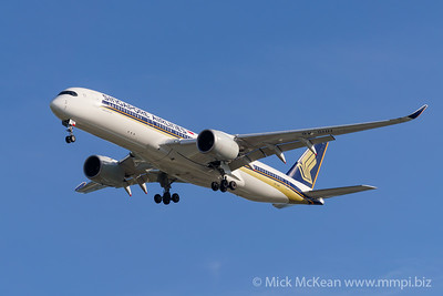 MMPI_20200127_MMPI0063_0011 - Singapore Airlines Airbus A350-941 9V-SHH as flight SQ265 on approach to Brisbane (YBBN) ex Singapore (WSSS).
