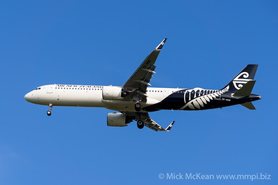 MMPI_20200127_MMPI0063_0001 - Air New Zealand Airbus A321-271NX ZK-NNB as flight NZ739 on approach to Brisbane (YBBN) ex Auckland (NZAA).