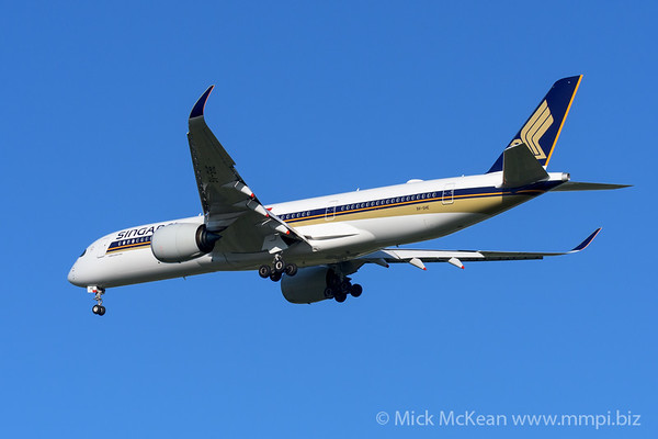 MMPI_20200202_MMPI0063_0040 - Singapore Airlines Airbus A350-941 9V-SHE as flight SQ265 on approach to Brisbane (YBBN) ex Singapore Changi (WSSS).