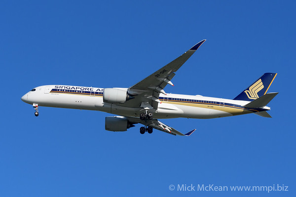 MMPI_20200202_MMPI0063_0039 - Singapore Airlines Airbus A350-941 9V-SHE as flight SQ265 on approach to Brisbane (YBBN) ex Singapore Changi (WSSS).