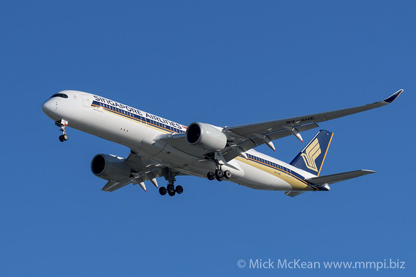 MMPI_20200202_MMPI0063_0038 - Singapore Airlines Airbus A350-941 9V-SHE as flight SQ265 on approach to Brisbane (YBBN) ex Singapore Changi (WSSS).