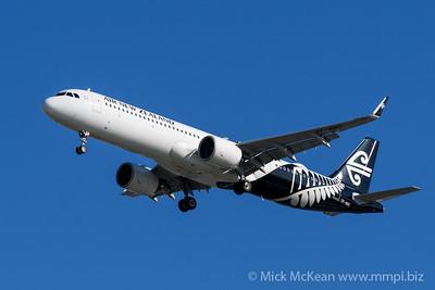 MMPI_20200202_MMPI0063_0019 - Air New Zealand Airbus A321-271NX ZK-NNC as flight NZ805 on approach to Brisbane (YBBN) ex Christchurch (NZCH).
