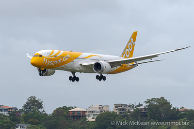 MMPI_20200208_MMPI0063_0013 - Scoot Boeing 787-9 Dreamliner 9V-OJG on approach to Gold Coast Airport (YBCG) ex Singapore (WSSS).