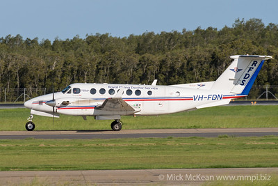 MMPI_20200215_MMPI0063_0010 - Royal Flying Doctor Service Beech B300 Super King Air 350C VH-FDN taxiing after landing at Brisbane (YBBN) ex Toowoomba Wellcamp (YBWW).