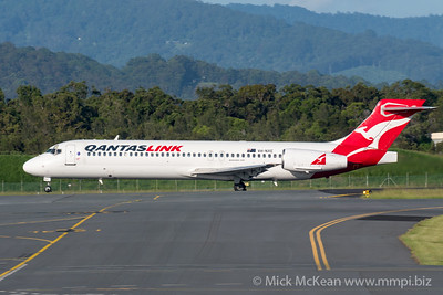 MMPI_20200216_MMPI0063_0007 - QantasLink Boeing 717-23S VH-NXE as flight QF1563 beginning its takeoff roll at Gold Coast Airport (YBCG) bound for Sydney (YSSY).
