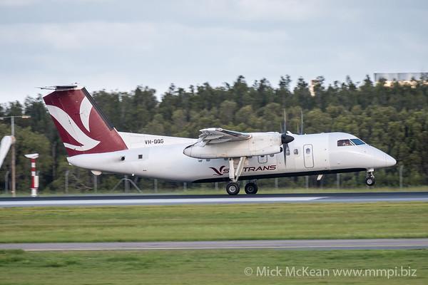 MMPI_20200229_MMPI0063_0018 - Skytrans Bombardier Q100 VH-QQG as flight QN9002 touches down at Brisbane Airport (YBBN) ex Cairns (YBCS).