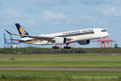 MMPI_20200229_MMPI0063_0003 - Singapore Airlines Airbus A350-941 9V-SHF as flight SQ265 on approach to Brisbane Airport (YBBN) ex Singapore (WSSS).
