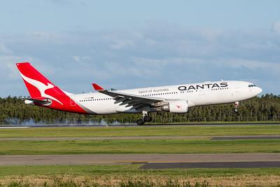 MMPI_20200229_MMPI0063_0011 - Qantas Airbus A330-202 VH-EBN as flight QF126 touches down at Brisbane Airport (YBBN) ex Auckland (NZAA).