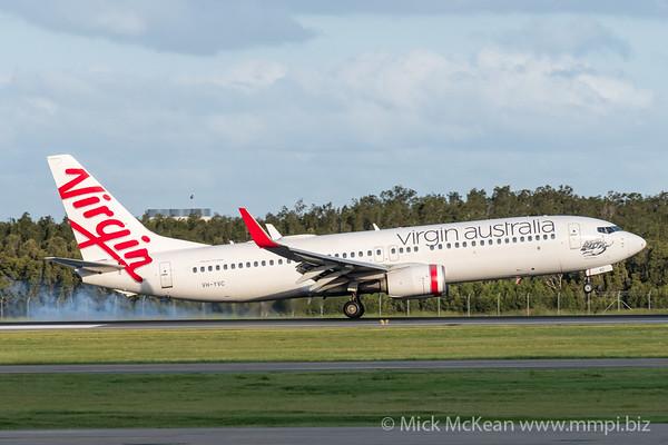 MMPI_20200229_MMPI0063_0029 - Virgin Australia Boeing 737-8FE VH-YVC as flight VA376 touches down at Brisbane Airport (YBBN) ex Townsville (YBTL).