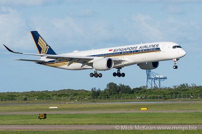 MMPI_20200229_MMPI0063_0002 - Singapore Airlines Airbus A350-941 9V-SHF as flight SQ265 on approach to Brisbane Airport (YBBN) ex Singapore (WSSS).