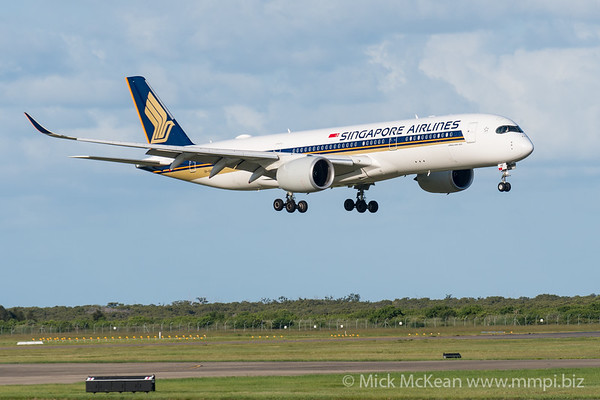 MMPI_20200229_MMPI0063_0001 - Singapore Airlines Airbus A350-941 9V-SHF as flight SQ265 on approach to Brisbane Airport (YBBN) ex Singapore (WSSS).