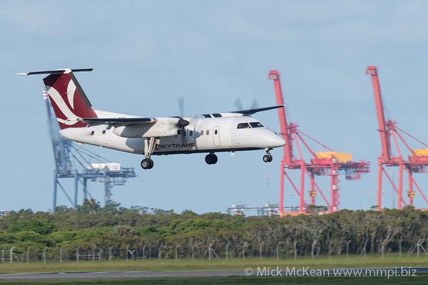 MMPI_20200229_MMPI0063_0017 - Skytrans Bombardier Q100 VH-QQG as flight QN9002 on approach to Brisbane Airport (YBBN) ex Cairns (YBCS).