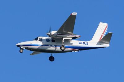 MMPI_20200322_MMPI0063_0008 - GAMAir Aero Commander 500S Shrike Commander VH-UJS on approach to Brisbane Airport (YBBN) ex Bankstown (YSBK).