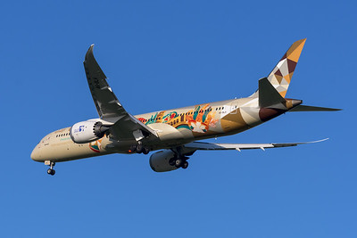 """MMPI_20200322_MMPI0063_0019 - Etihad Boeing 787-9 Dreamliner A6-BLH """"Choose Italy"""" livery as flight EY484 on approach to Brisbane Airport (YBBN) ex Abu Dhabi (OMAA)."""