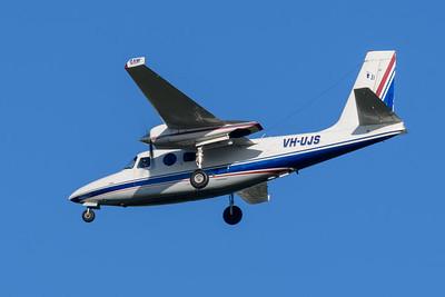 MMPI_20200322_MMPI0063_0009 - GAMAir Aero Commander 500S Shrike Commander VH-UJS on approach to Brisbane Airport (YBBN) ex Bankstown (YSBK).