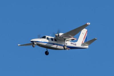 MMPI_20200322_MMPI0063_0007 - GAMAir Aero Commander 500S Shrike Commander VH-UJS on approach to Brisbane Airport (YBBN) ex Bankstown (YSBK).