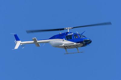 MMPI_20200425_MMPI0063_0001 - Aerofast Aviation Agusta-Bell 206A Jetranger VH-DYR in flight.