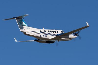 MMPI_20200524_MMPI0063_0006 - Flight One Beechcraft B200 Super King Air VH-FON takes off from Archerfield (YBAF).