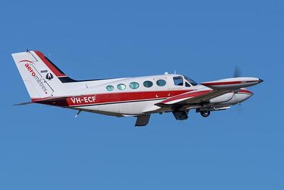 MMPI_20200524_MMPI0063_0004 - Aerometrex Ltd Cessna 421B Golden Eagle VH-FUV takes off from Archerfield (YBAF).