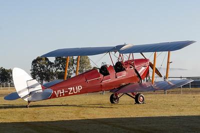 MMPI_20200627_MMPI0063_0014 -  De Havilland DH.82A Tiger Moth II VH-ZUP parked up after returning from a sunrise flight.