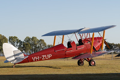MMPI_20200627_MMPI0063_0015 -  De Havilland DH.82A Tiger Moth II VH-ZUP parked up after returning from a sunrise flight.