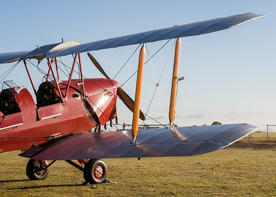 MMPI_20200627_MMPI0063_0013 -  De Havilland DH.82A Tiger Moth II VH-ZUP parked up after returning from a sunrise flight.