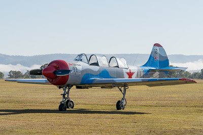 MMPI_20200627_MMPI0063_0018 -  Yakovlev Yak-52 VH-YFO parked at QWVAA flying day.