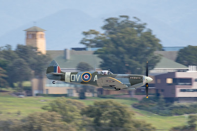 MMPI_20200712_MMPI0063_0028 -  Supermarine Spitfire Mk XVI VH-XWE during its flying display at the opening of Brisbane Airport's new parallel runway.