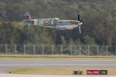 MMPI_20200712_MMPI0063_0031 -  Supermarine Spitfire Mk XVI VH-XWE during its flying display at the opening of Brisbane Airport's new parallel runway.