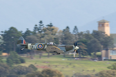 MMPI_20200712_MMPI0063_0027 -  Supermarine Spitfire Mk XVI VH-XWE during its flying display at the opening of Brisbane Airport's new parallel runway.