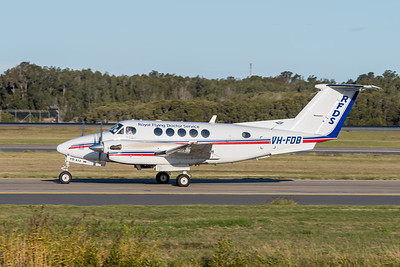 _A732150 - Royal Flying Doctor Service Beech B200 Super King Air VH-FDB taxiies after landing.