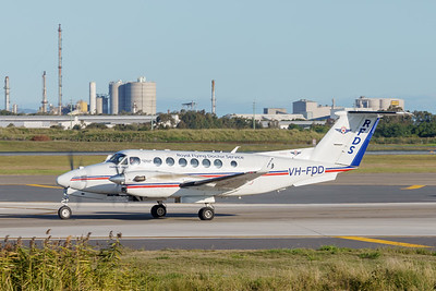 _A732127 - Royal Flying Doctor Service Beech B300C King Air VH-FDD taxiies after arriving from Toowoomba Wellcamp (YBWW).